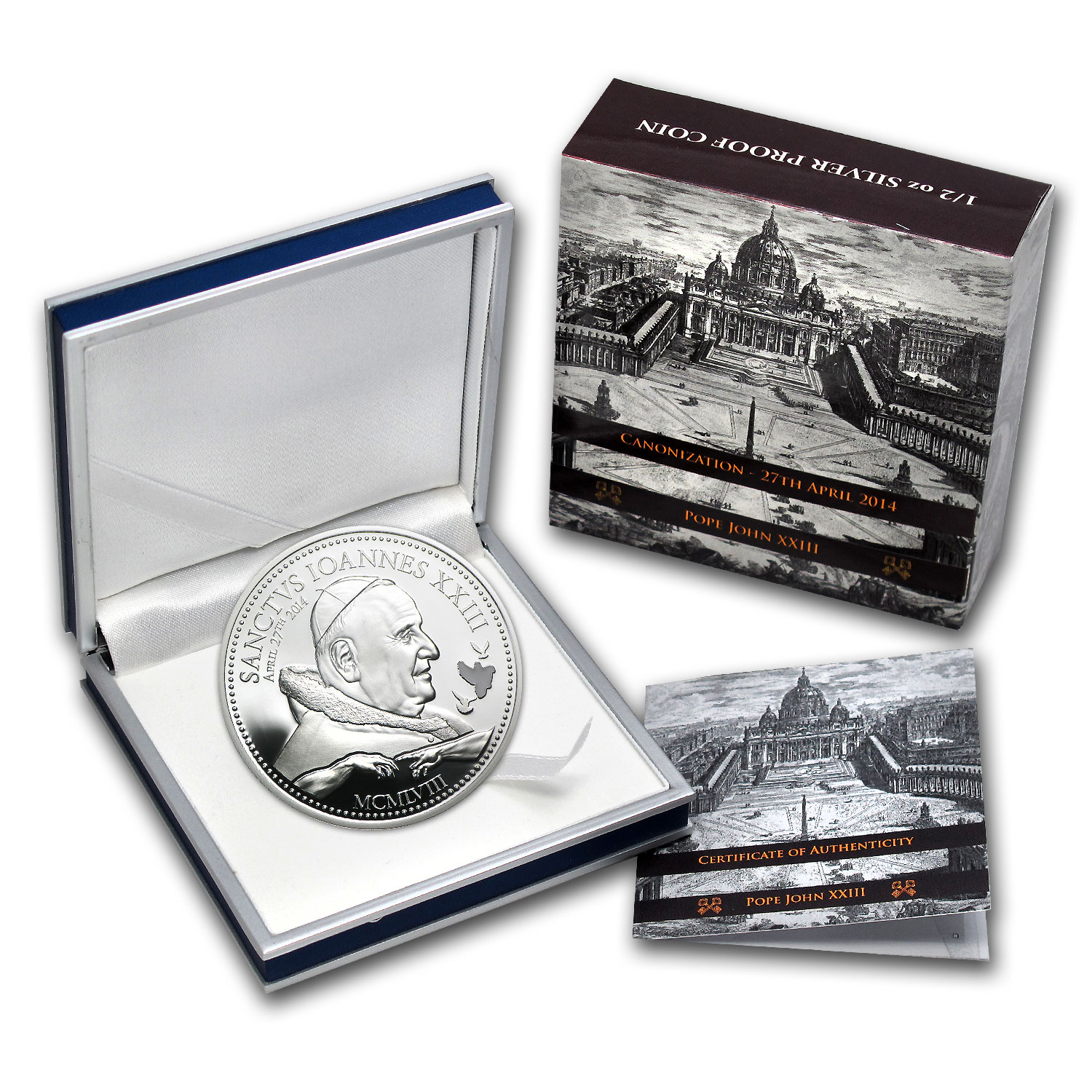 Cook Islands 2014 Silver $2 Pope Johannes XXIII