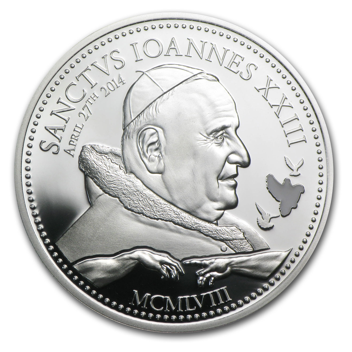 2014 Cook Islands Silver $2 Pope Johannes XXIII