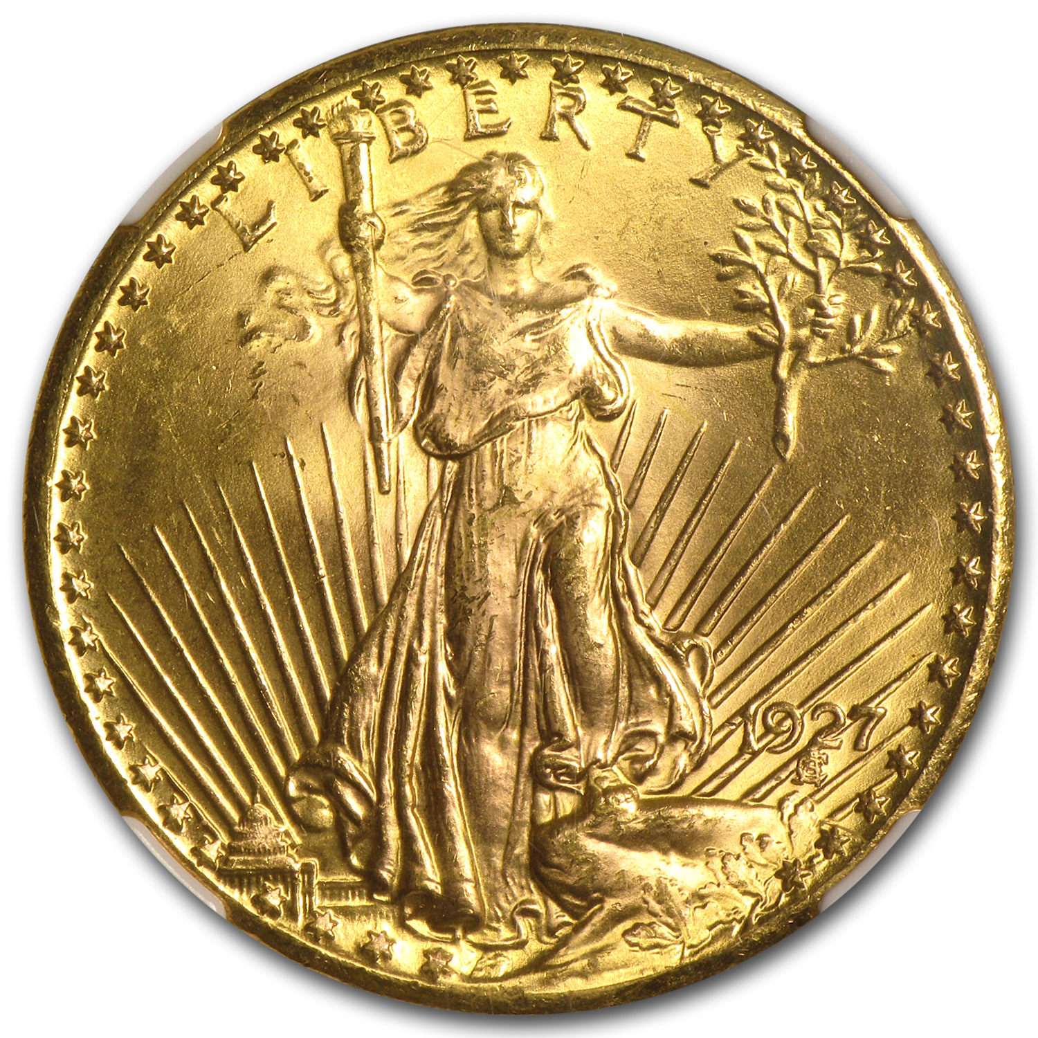 $20 Saint-Gaudens Gold Double Eagle - MS-64+ NGC