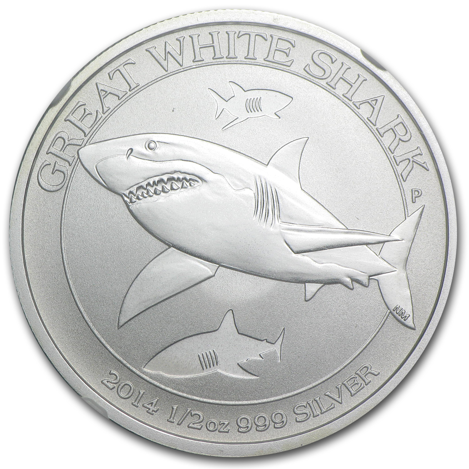 2014 1/2 oz Silver Australian Great White Shark MS-69 NGC (ER)