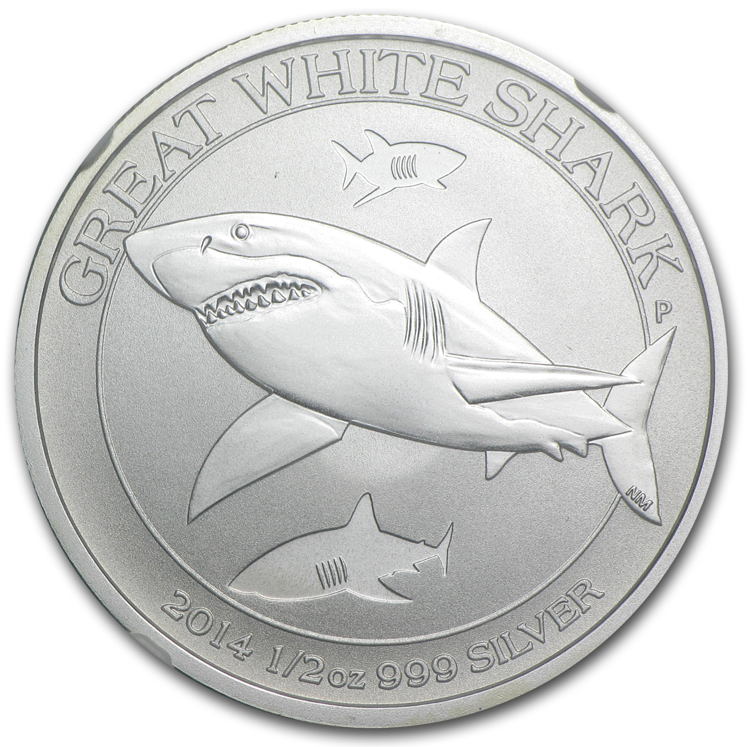 2014 1/2 oz Silver Australian Great White Shark MS-70 NGC (ER)