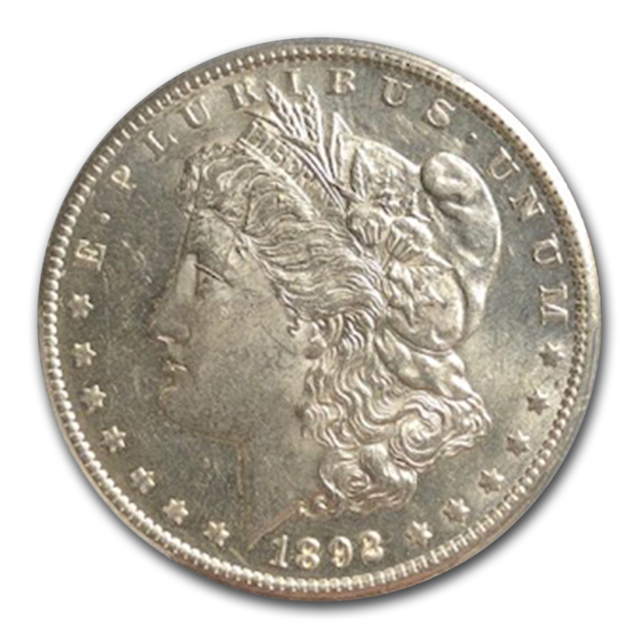 1892-CC Morgan Dollar Almost Uncirculated-58 PCGS