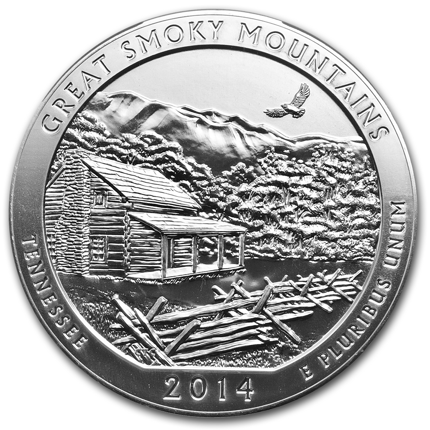 2014 5 oz Silver ATB Great Smoky Mountains MS-69 DPL ER NGC