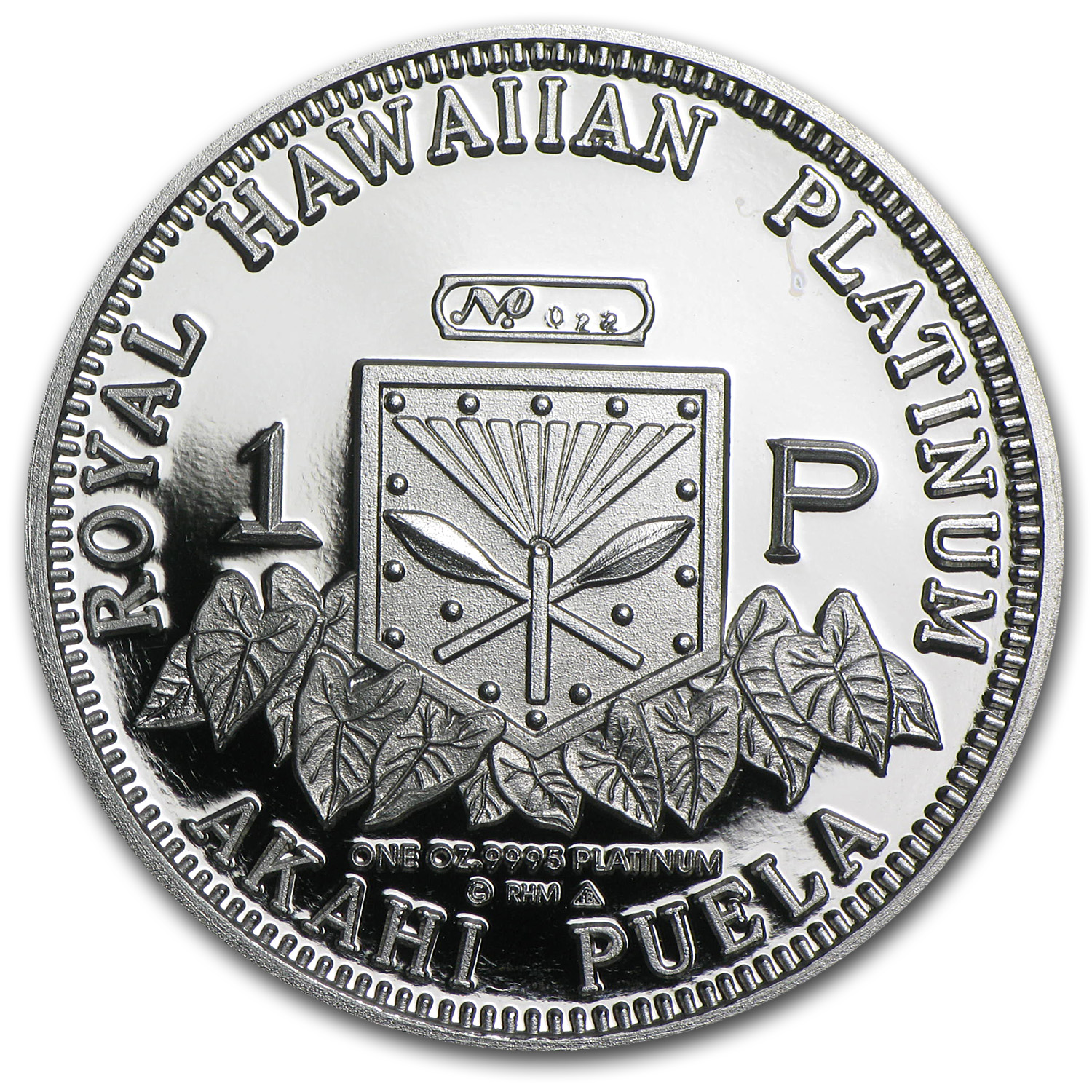 1997 1 oz Hawaiian Platinum King (Proof)
