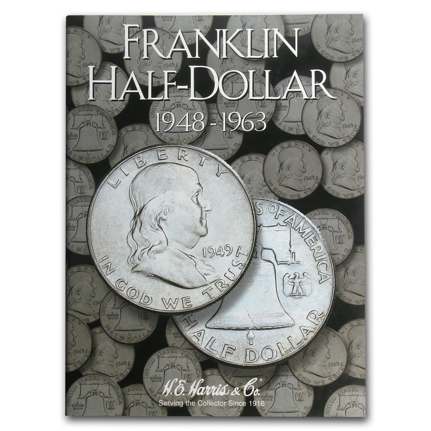 1948-1963 Franklin Half Dollar Set Avg Circ (Harris Album)