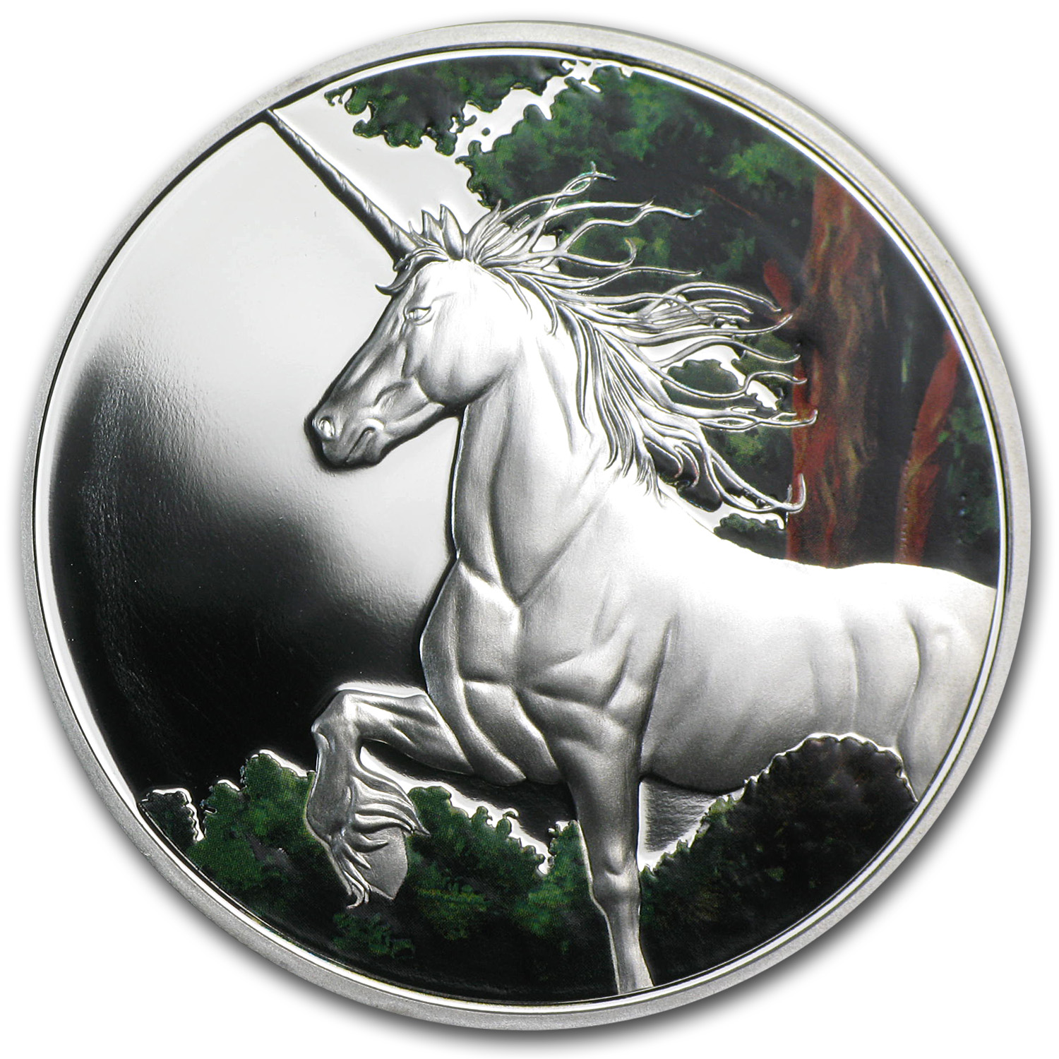 Tokelau 2014 1 oz Color Proof Silver $5 Unicorn