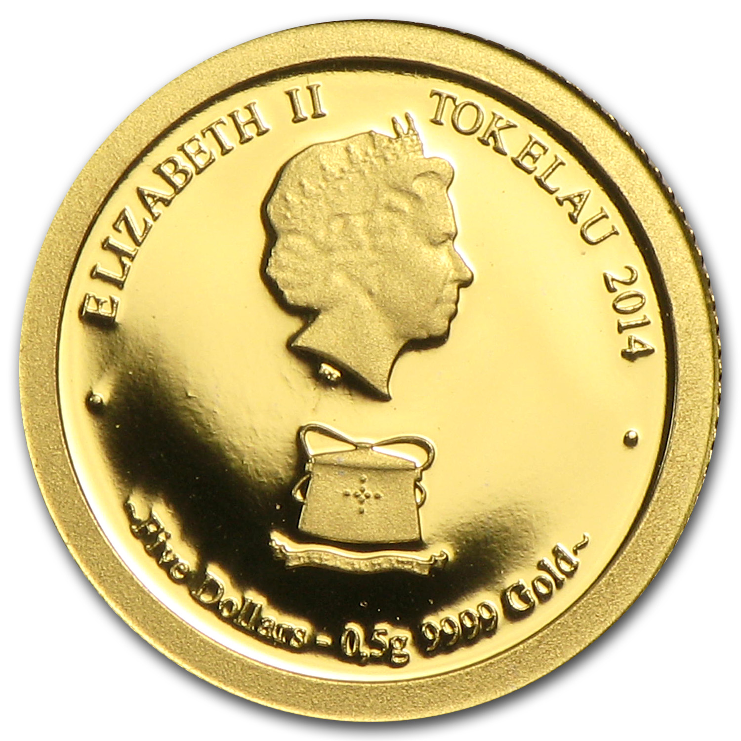 2014 Tokelau 1/2 gm Gold $5 Lunar Series Horse