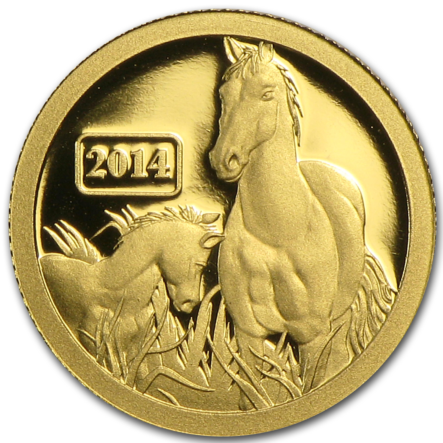 Tokelau 2014 Gold $5 Lunar Series - Horse (1/2 gram of Pure Gold)