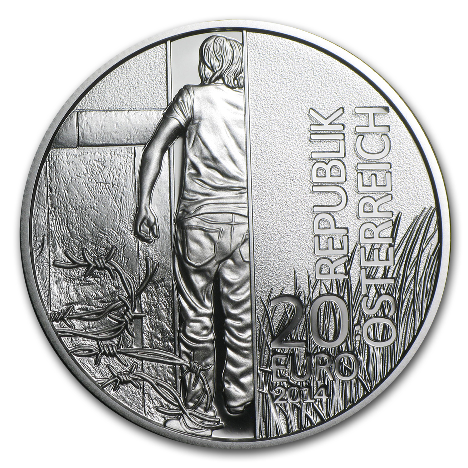 2014 Austria Silver €20 Iron Curtain Proof
