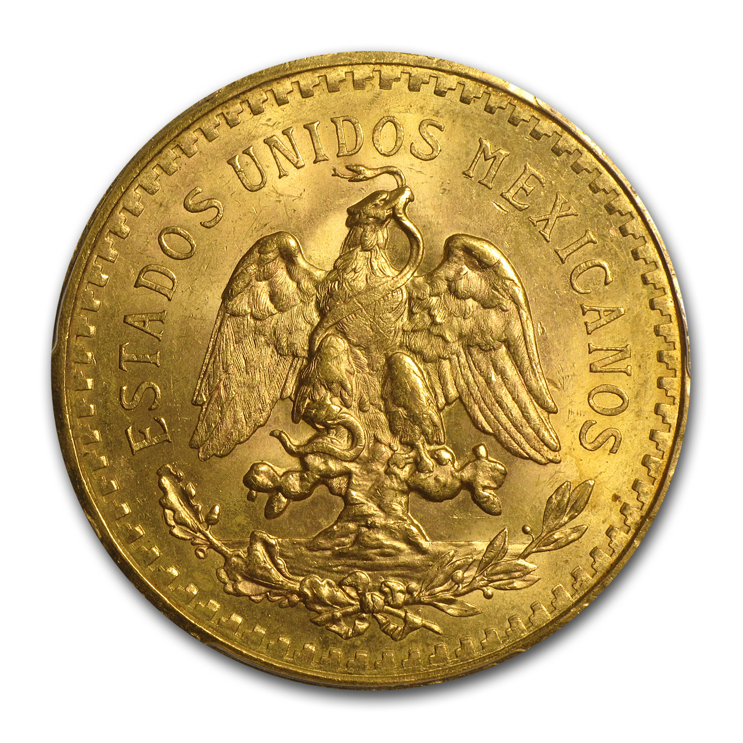 Mexico 1928 50 Pesos Gold Coin - MS-64+ PCGS (Secure Plus!)