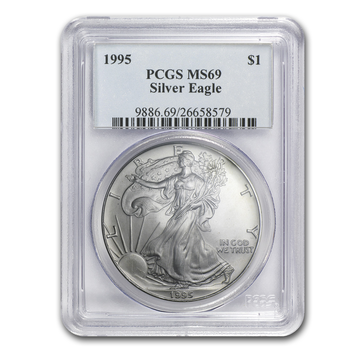 1986-2014 Silver American Eagle Set - MS-69 PCGS - Wood Box