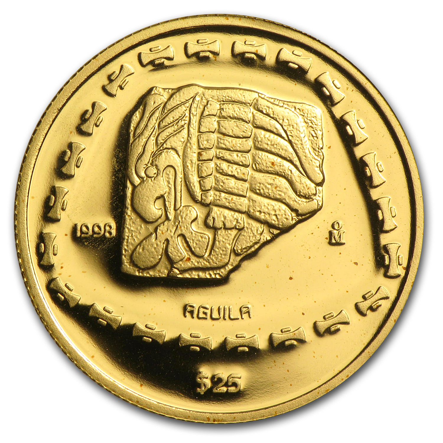 1998 Mexico 25 Pesos Gold Proof Aguila