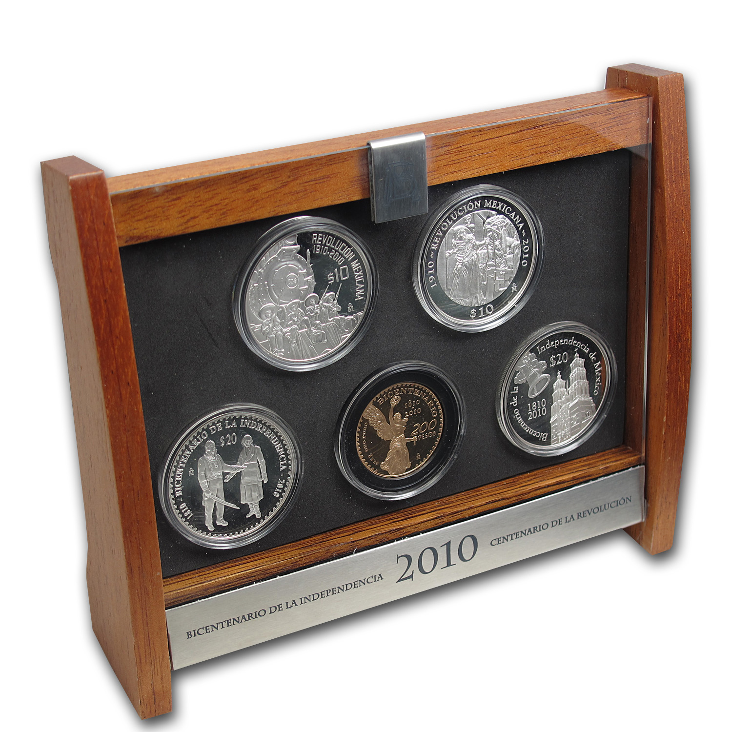 2010 Mexico 5-Coin Proof Prestige Set (1.2057 oz AGW, 8 oz ASW)