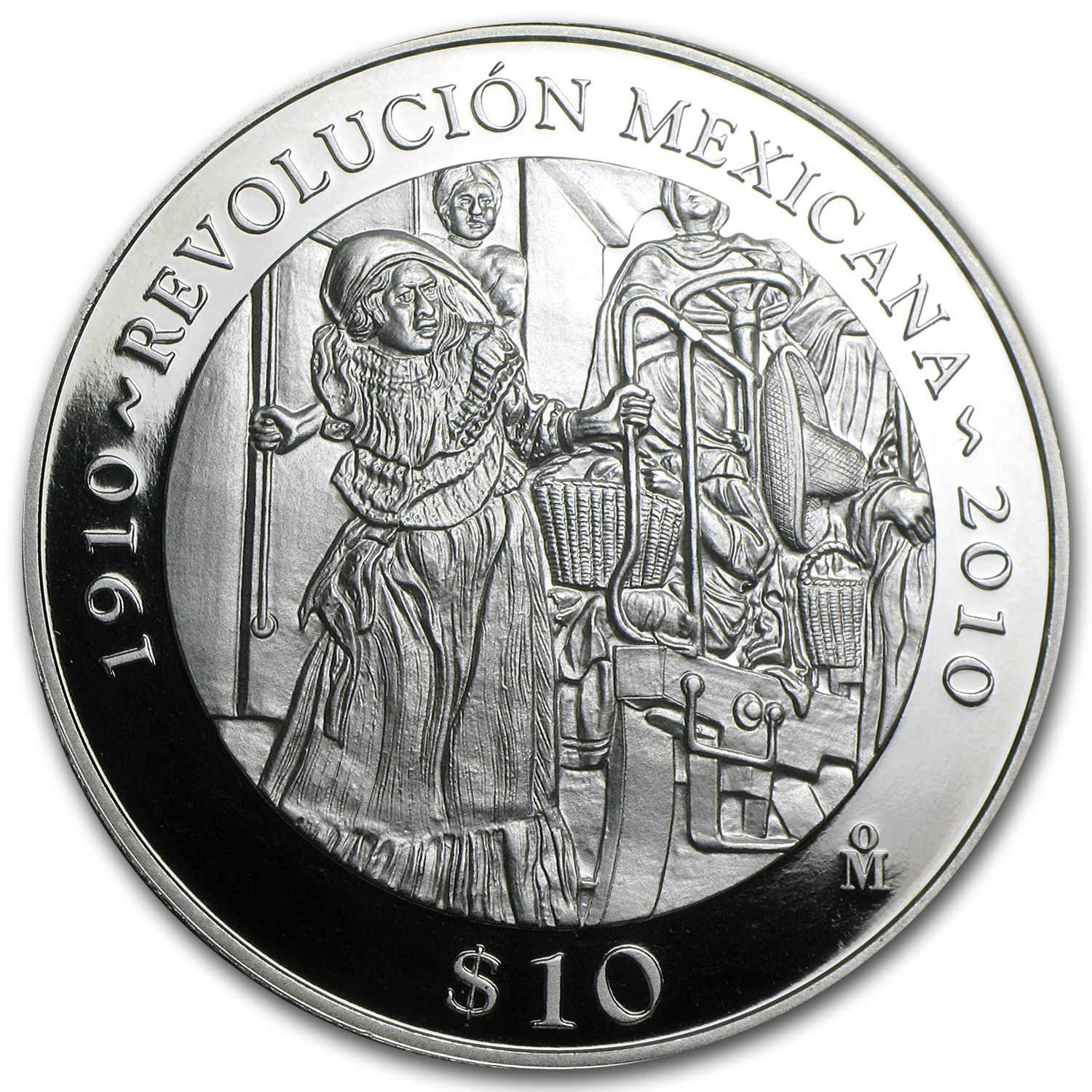 2010 Mexico 2 oz Proof Silver Revolutionary Woman (w/Box & CoA)