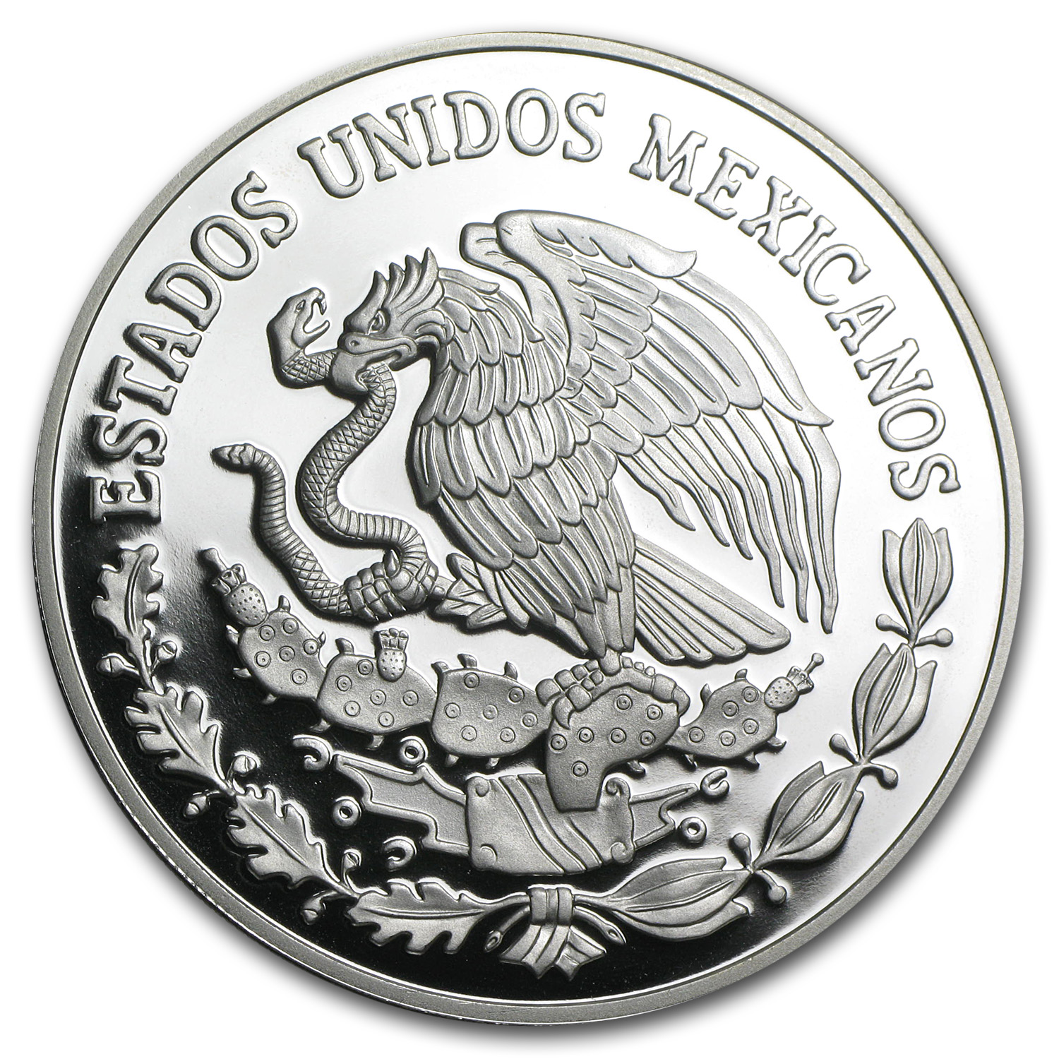 2010 Mexico 2 oz Proof Silver The Railroad (w/Box & CoA)