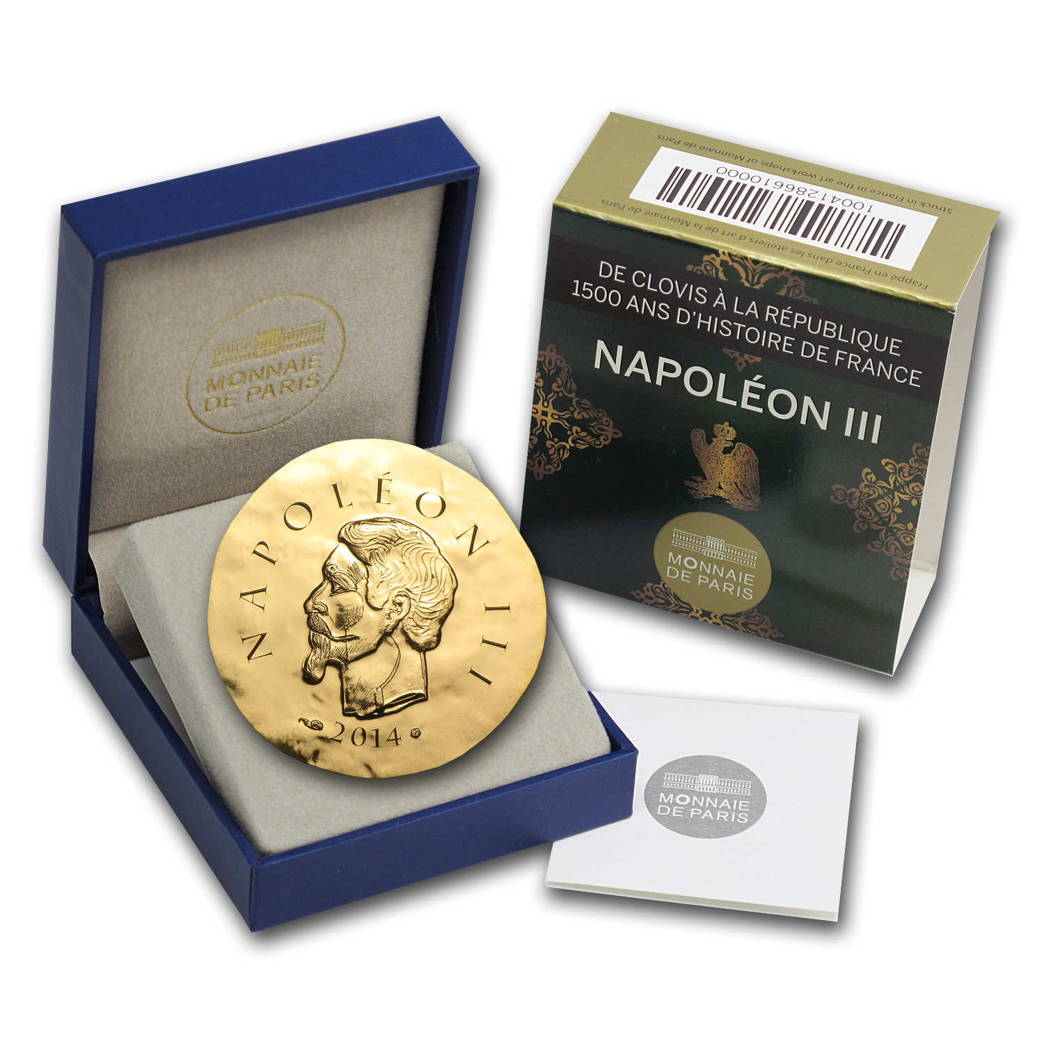 2014 1/4 oz Proof Gold €50 Legendary Collection Napoleon III