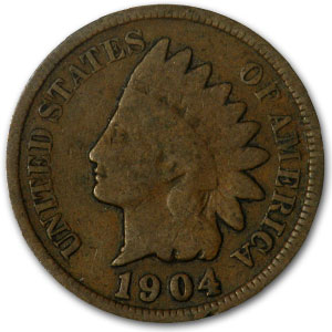 1904 Indian Head Cent Good+