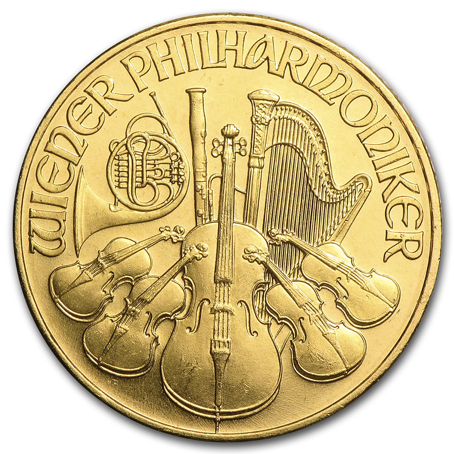1992 1/4 oz Gold Austrian Philharmonic