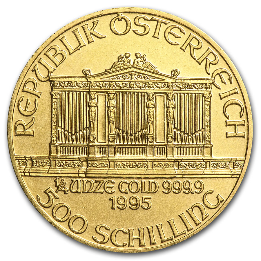 1995 1/4 oz Gold Austrian Philharmonic