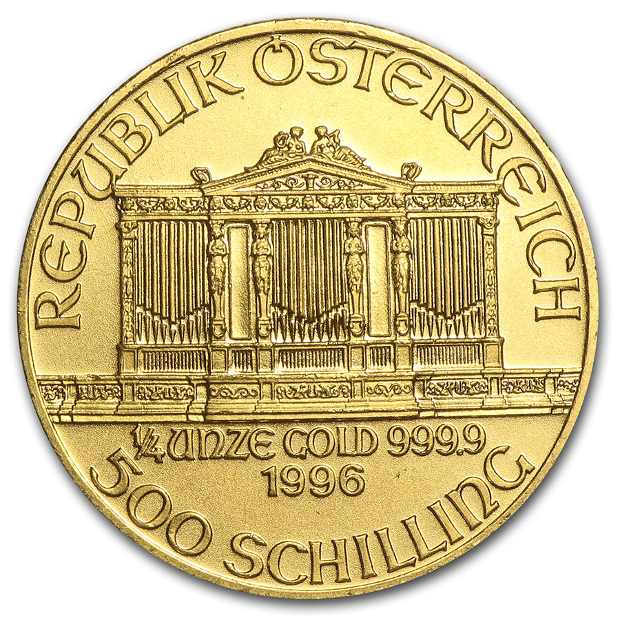 1996 1/4 oz Gold Austrian Philharmonic
