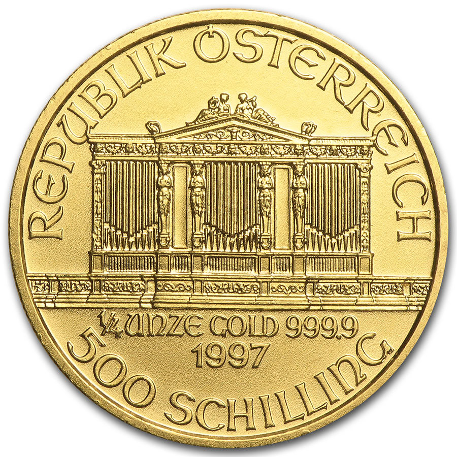 1997 1/4 oz Gold Austrian Philharmonic