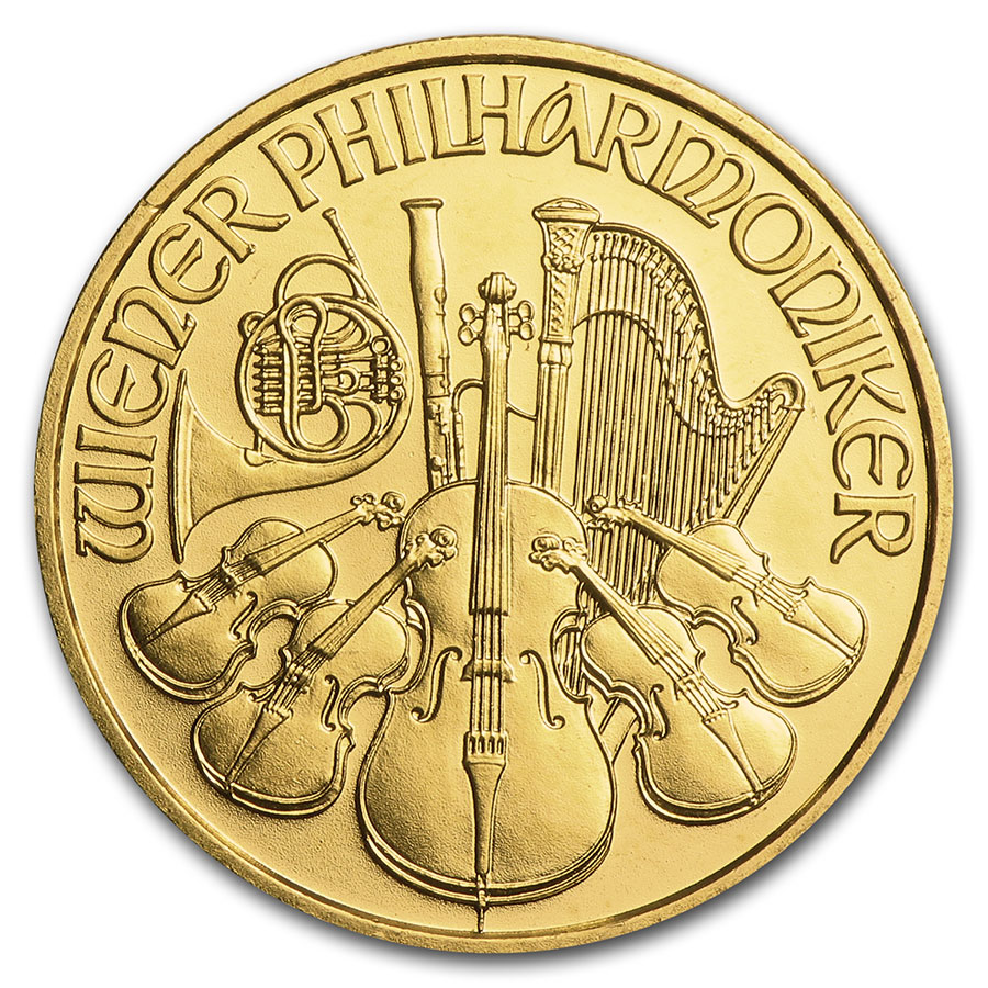 1998 1/4 oz Gold Austrian Philharmonic