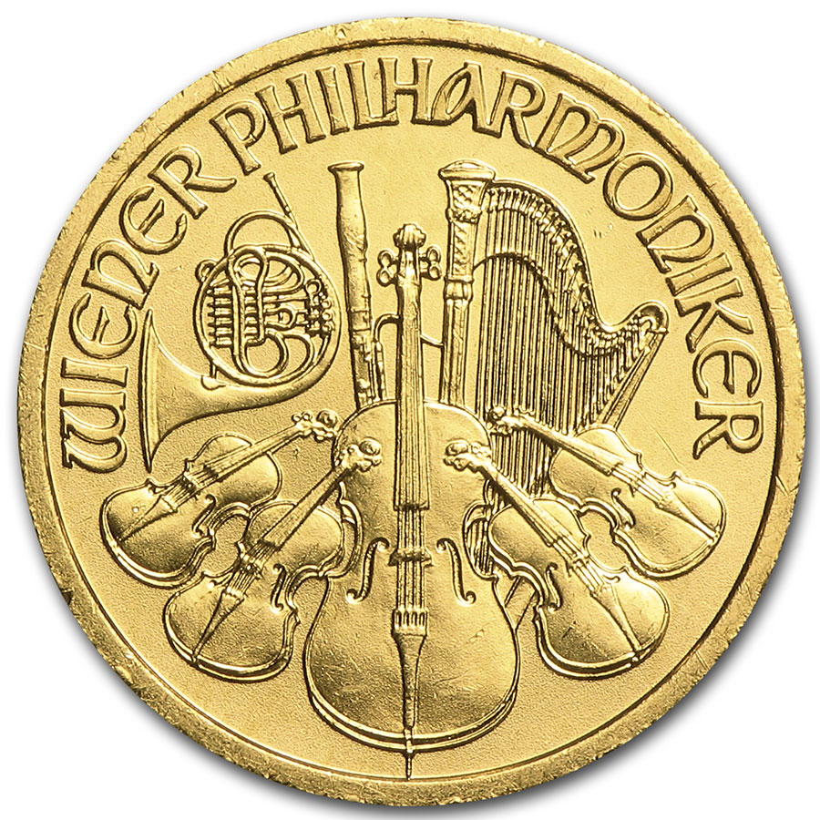 1999 1/10 oz Gold Austrian Philharmonic