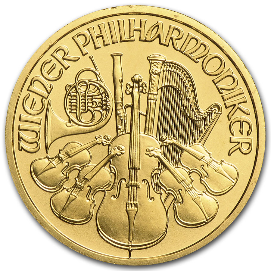 2005 1/10 oz Gold Austrian Philharmonic
