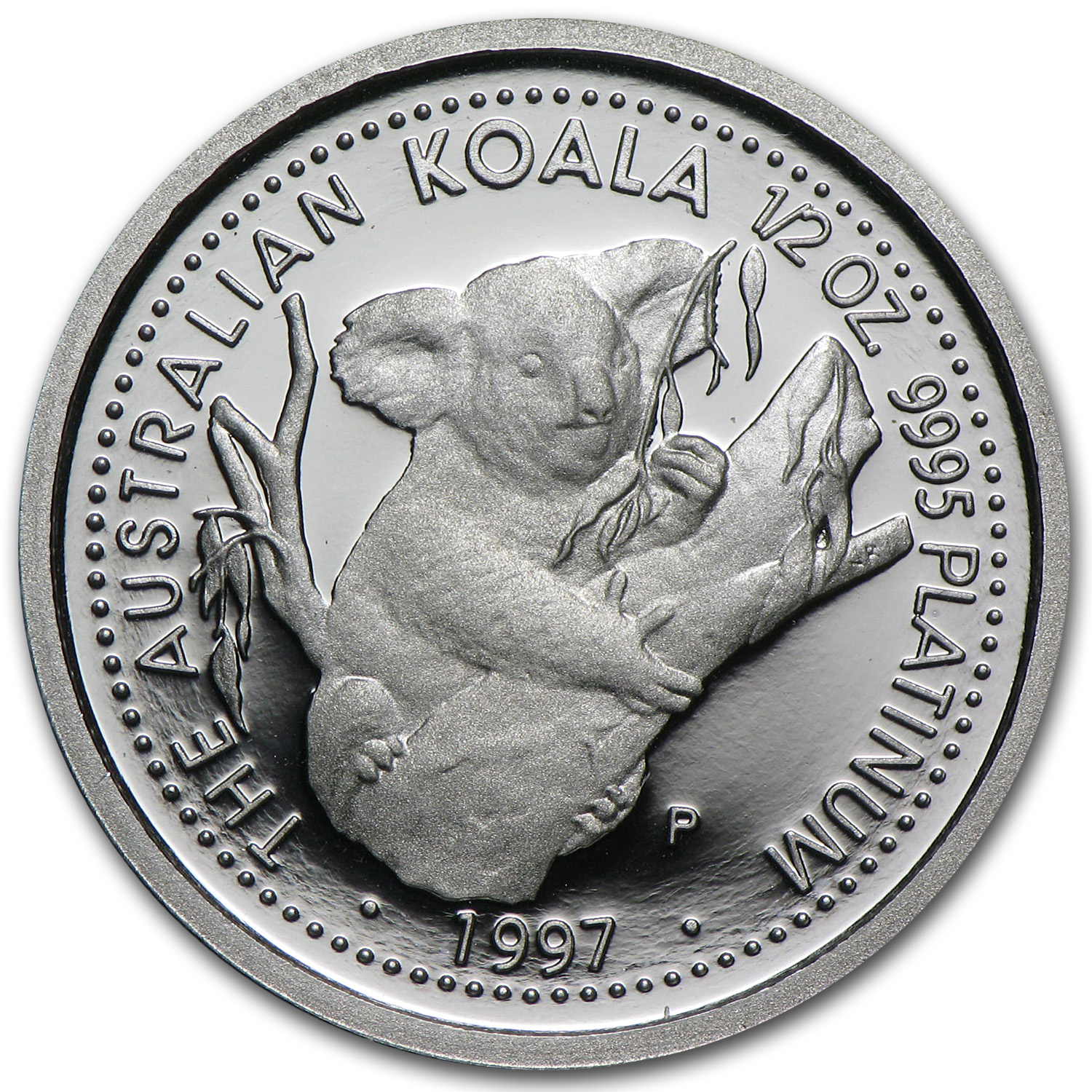 1997 1/2 oz Proof Australian Platinum Koala (w/Box)