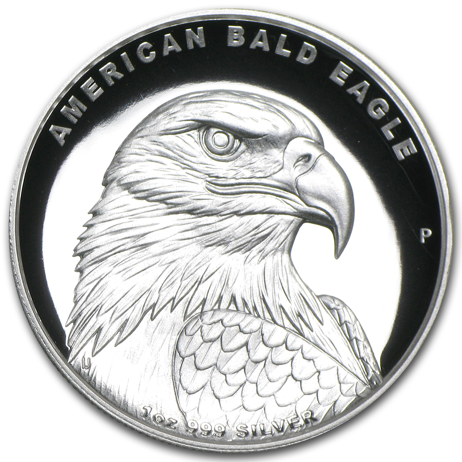 2014 1 oz Proof Silver High Relief Bald Eagle (W/Box & Coa)