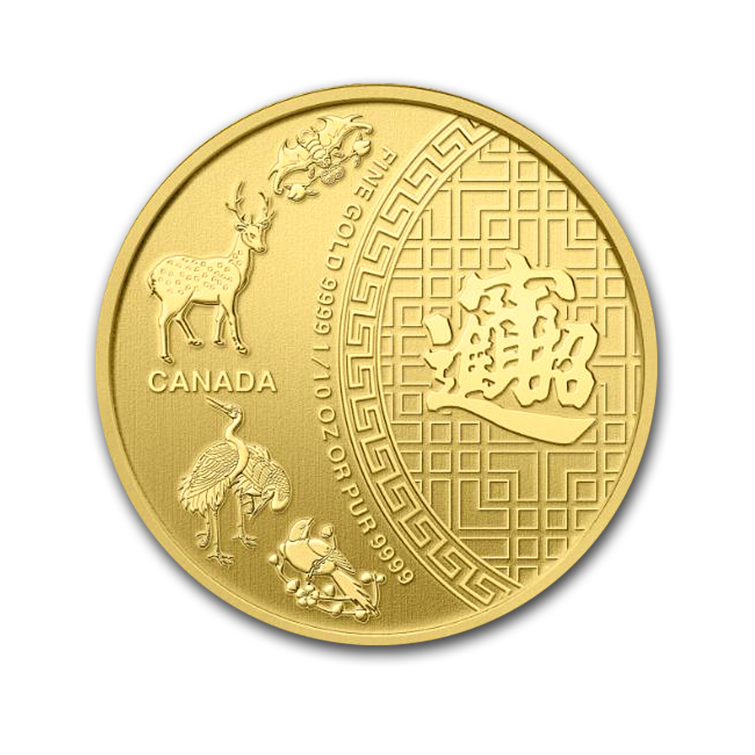 2014 Canada 1/10 oz Gold Five Blessings BU