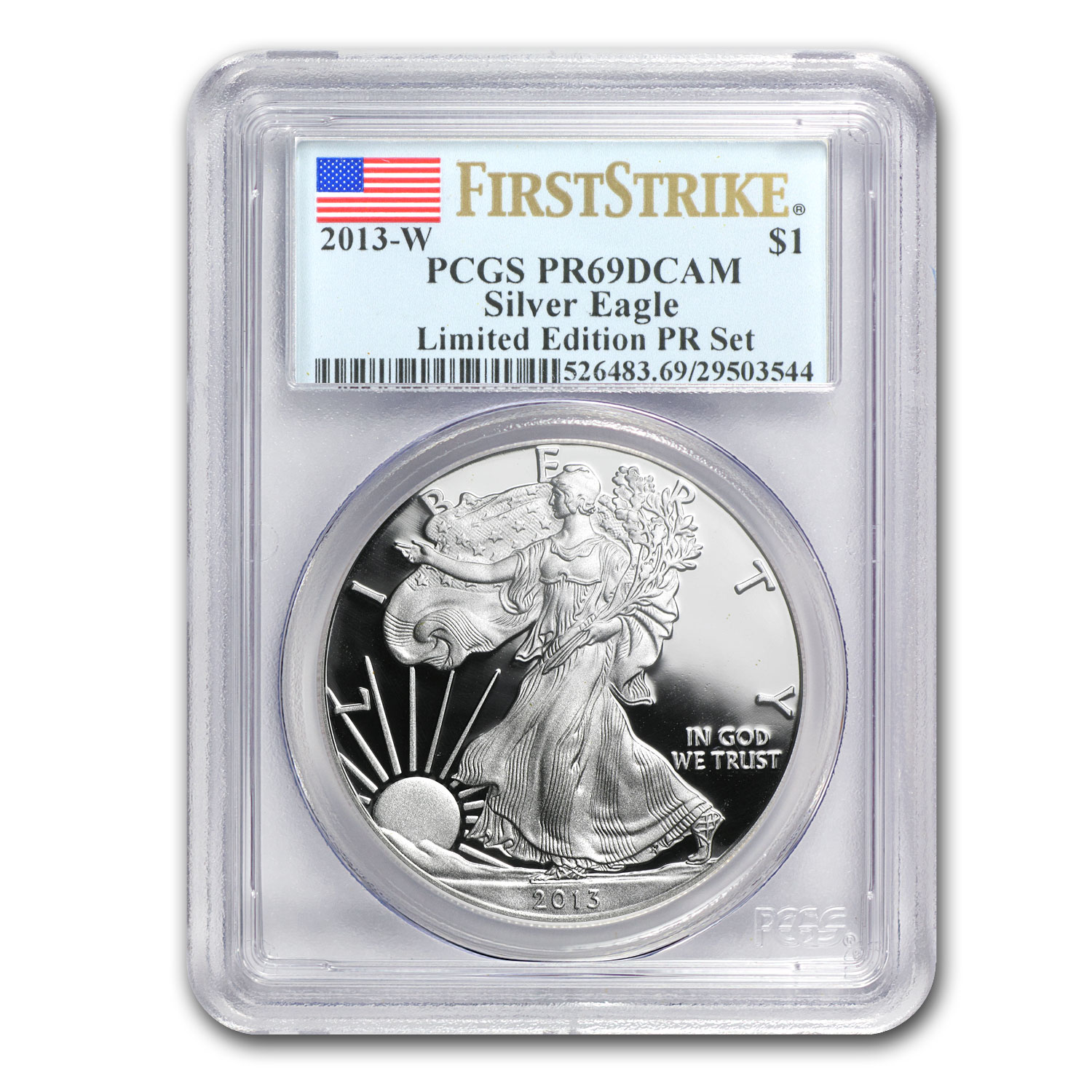2013 8-Pc Proof Silver Eagle Limited Edition Set PR-69 PCGS (FS)