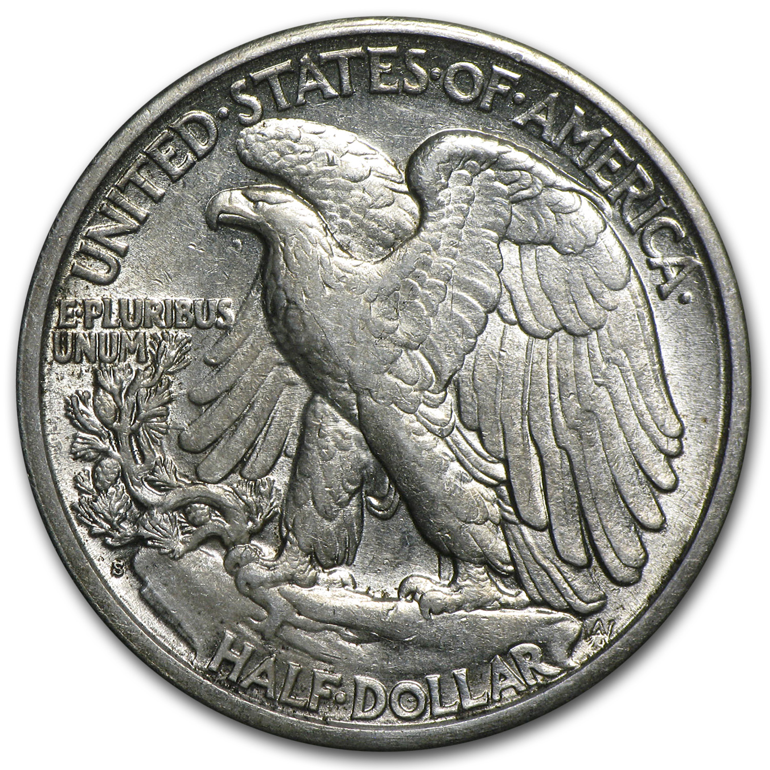 1918-S Walking Liberty Half Dollar - Almost Uncirculated