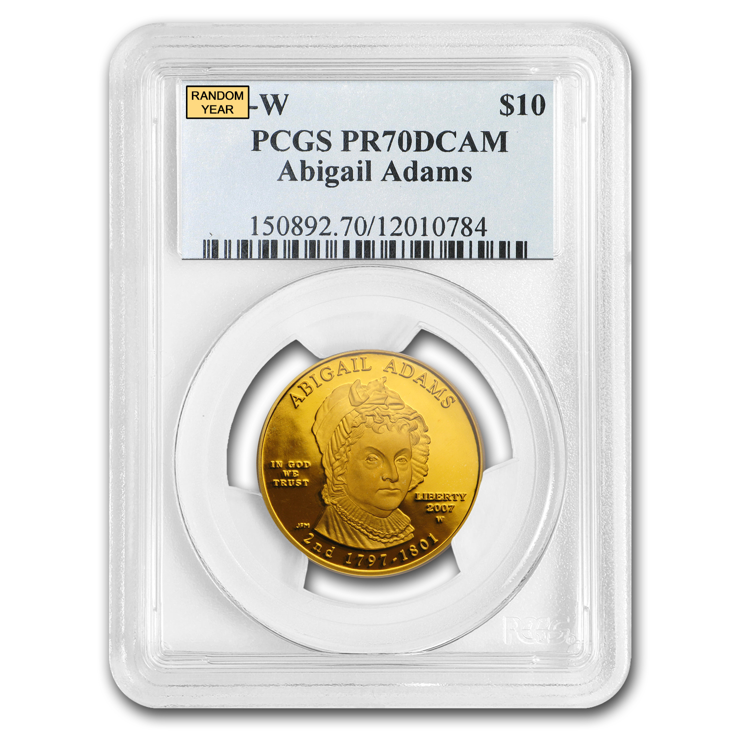1/2 oz Gold First Spouse Coins MS-70 PCGS (Random Year)