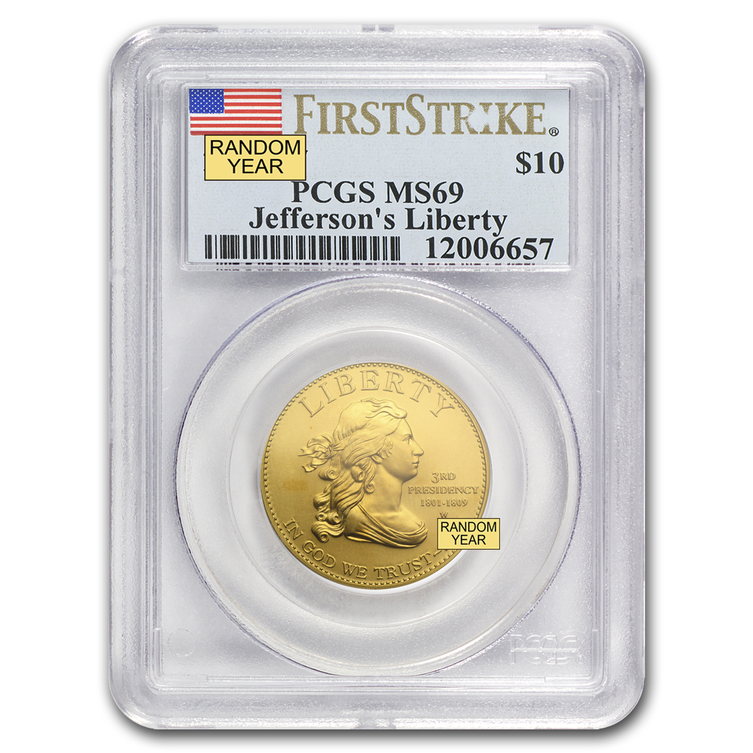 1/2 oz Gold First Spouse Coins MS-69 PCGS (Random Year)