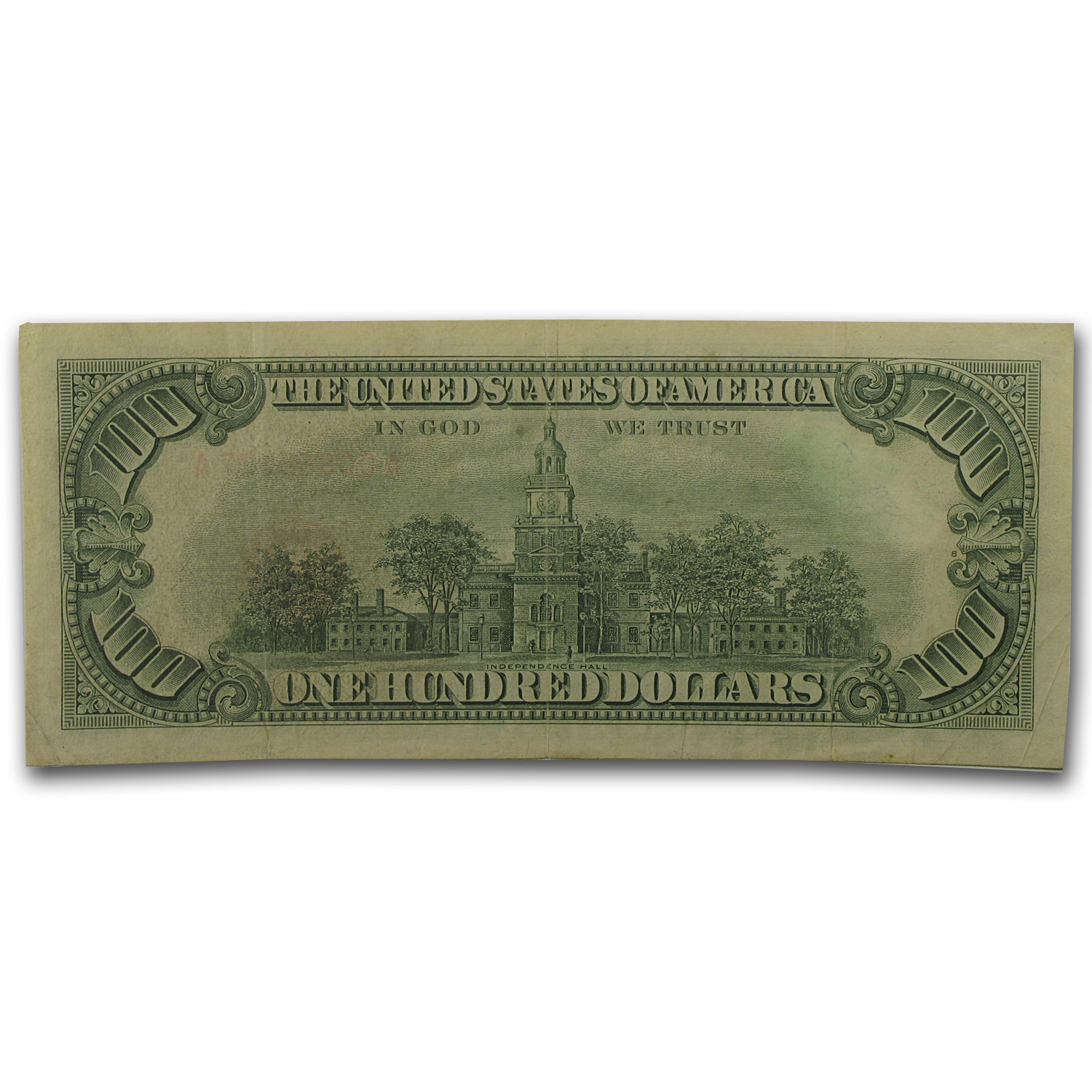 1966-A $100 U. S. Note Red Seal VF