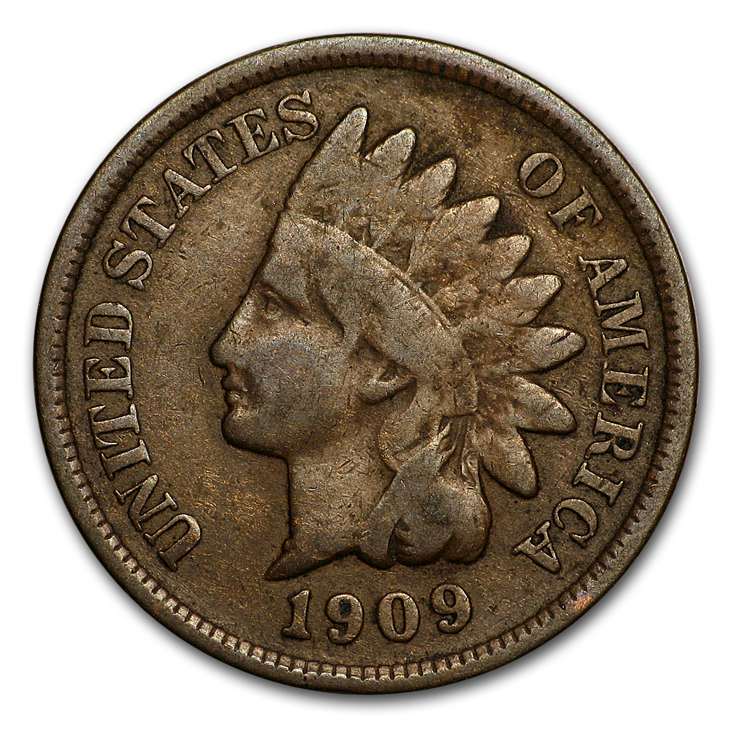 1909 Indian Head Cent Good/VG