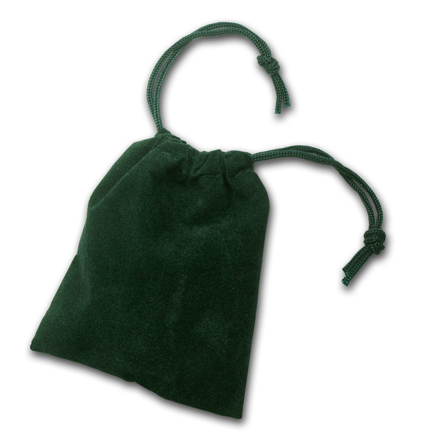 2.75 x 3 inch Velour Draw String Pouch - (Dark Green)