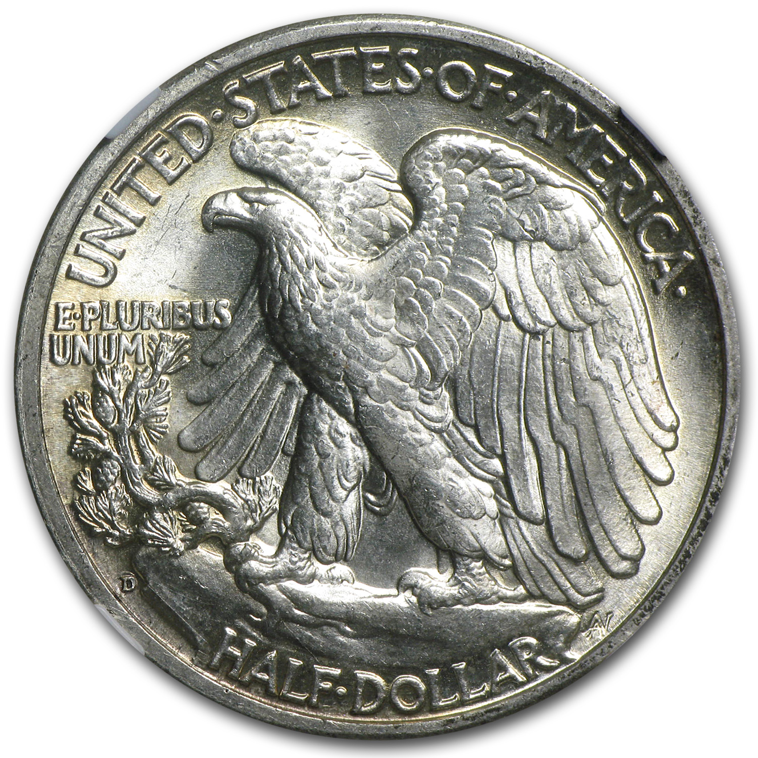 1942-D Walking Liberty Half Dollar MS-64 NGC
