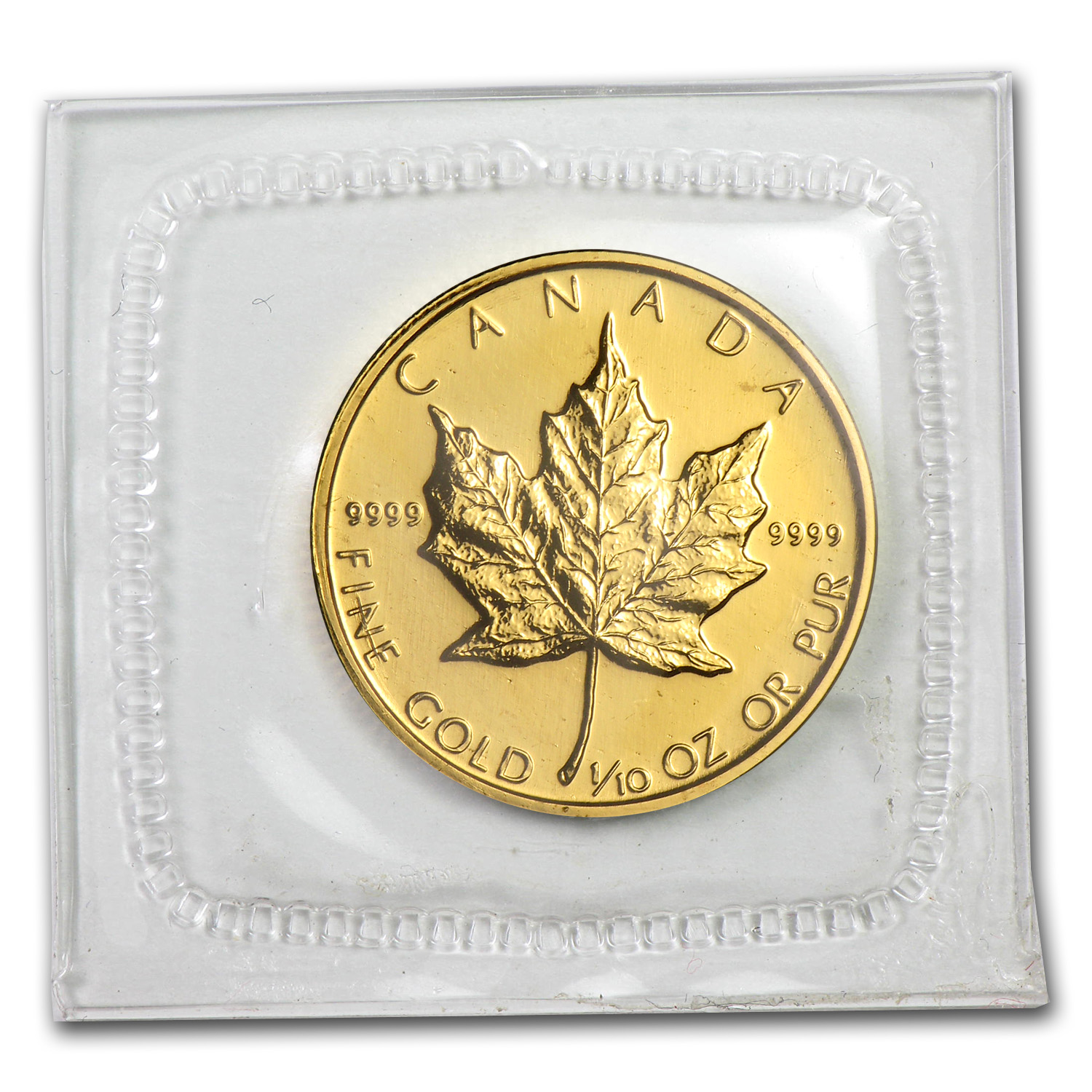 1988 Canada 1/10 oz Gold Maple Leaf BU