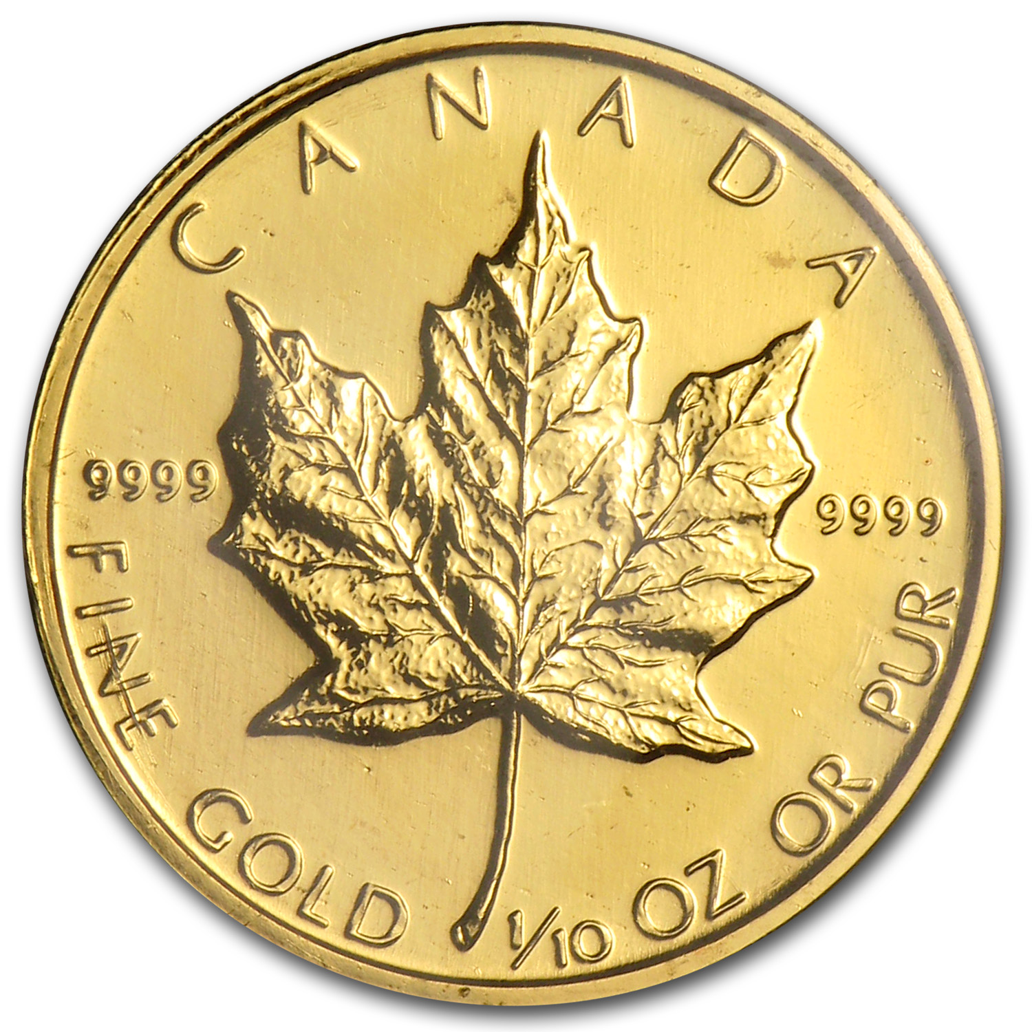 1994 Canada 1/10 oz Gold Maple Leaf BU