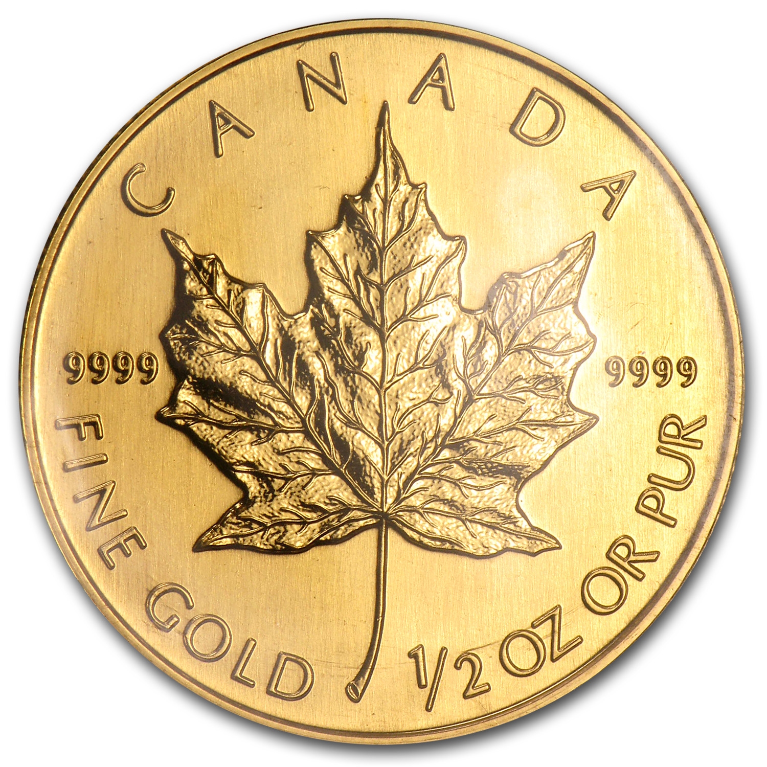 1996 Canada 1/2 oz Gold Maple Leaf BU