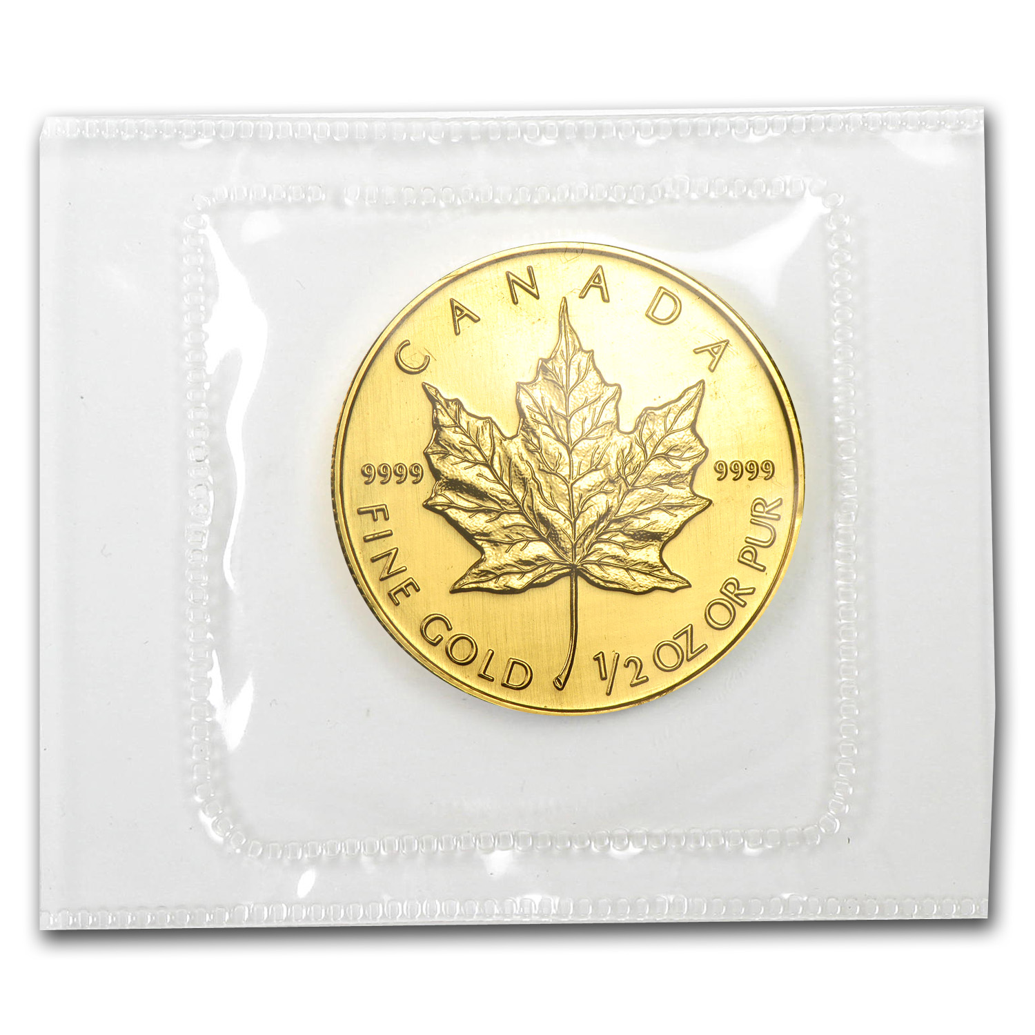 1993 1/2 oz Gold Canadian Maple Leaf