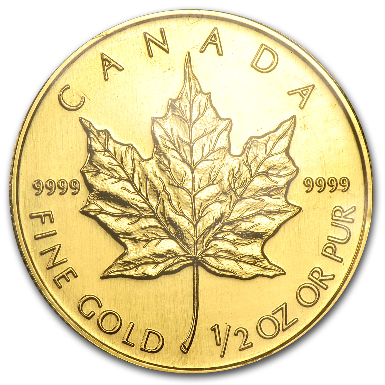 1993 Canada 1/2 oz Gold Maple Leaf BU