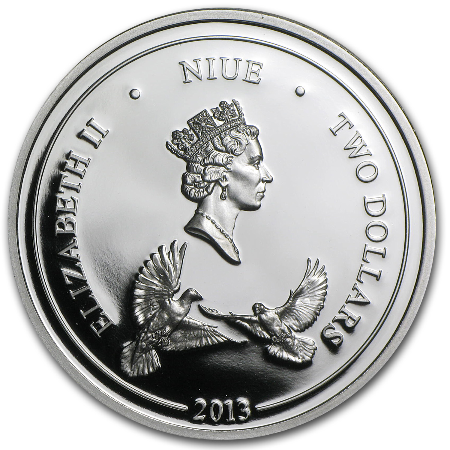 2013 1 oz Silver Niue $2 Love Forever Proof (w/Box & COA)