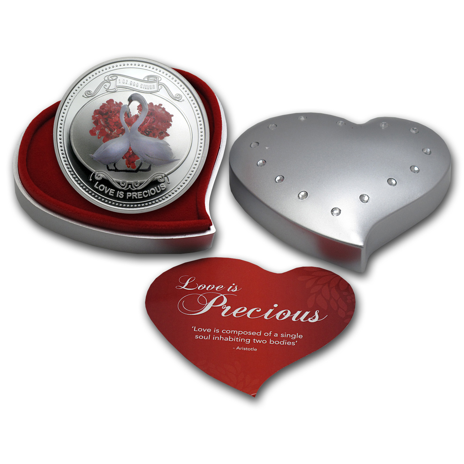2014 1 oz Silver Niue $2 Love is Precious (W/Box & COA)