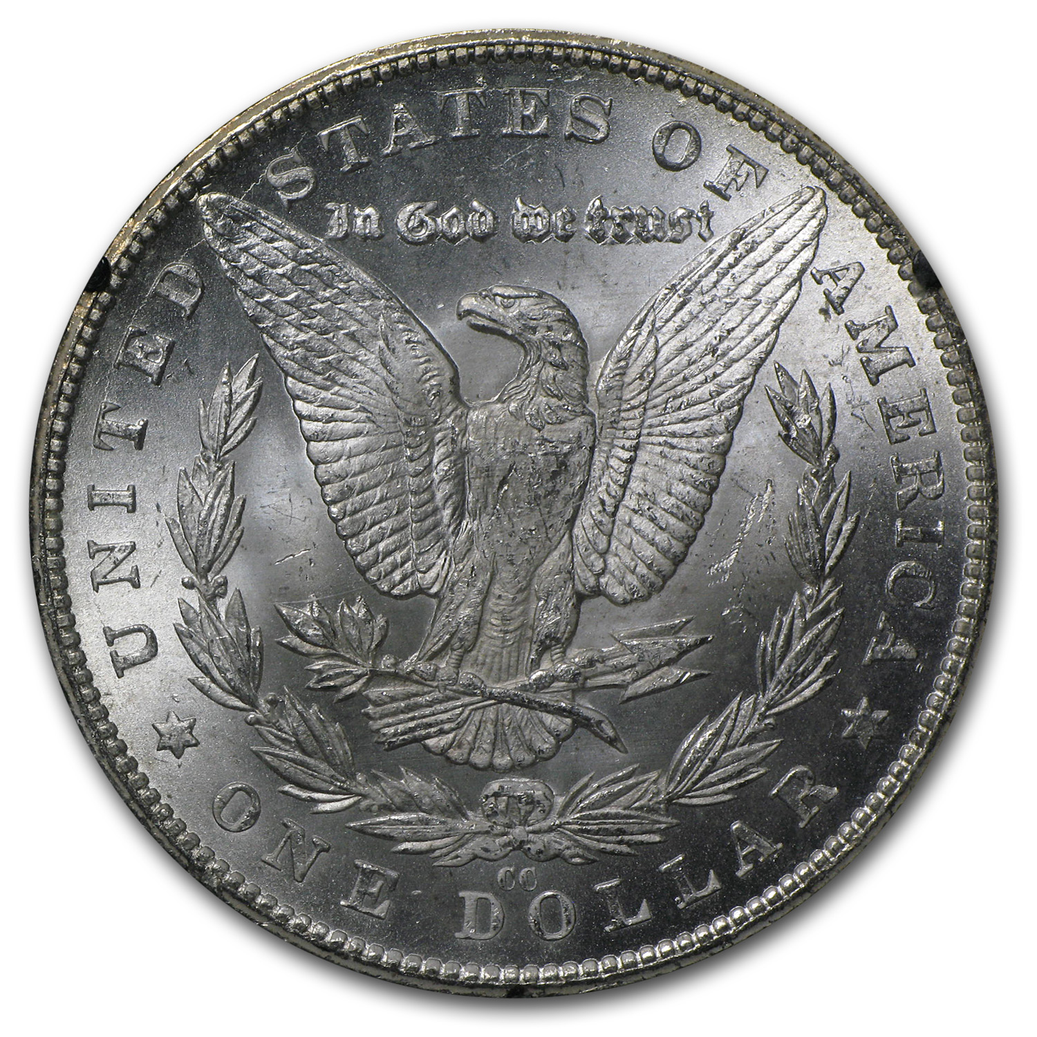 1880-CC 8/7 Morgan Dollar MS-63 NGC (VAM-9, GSA)