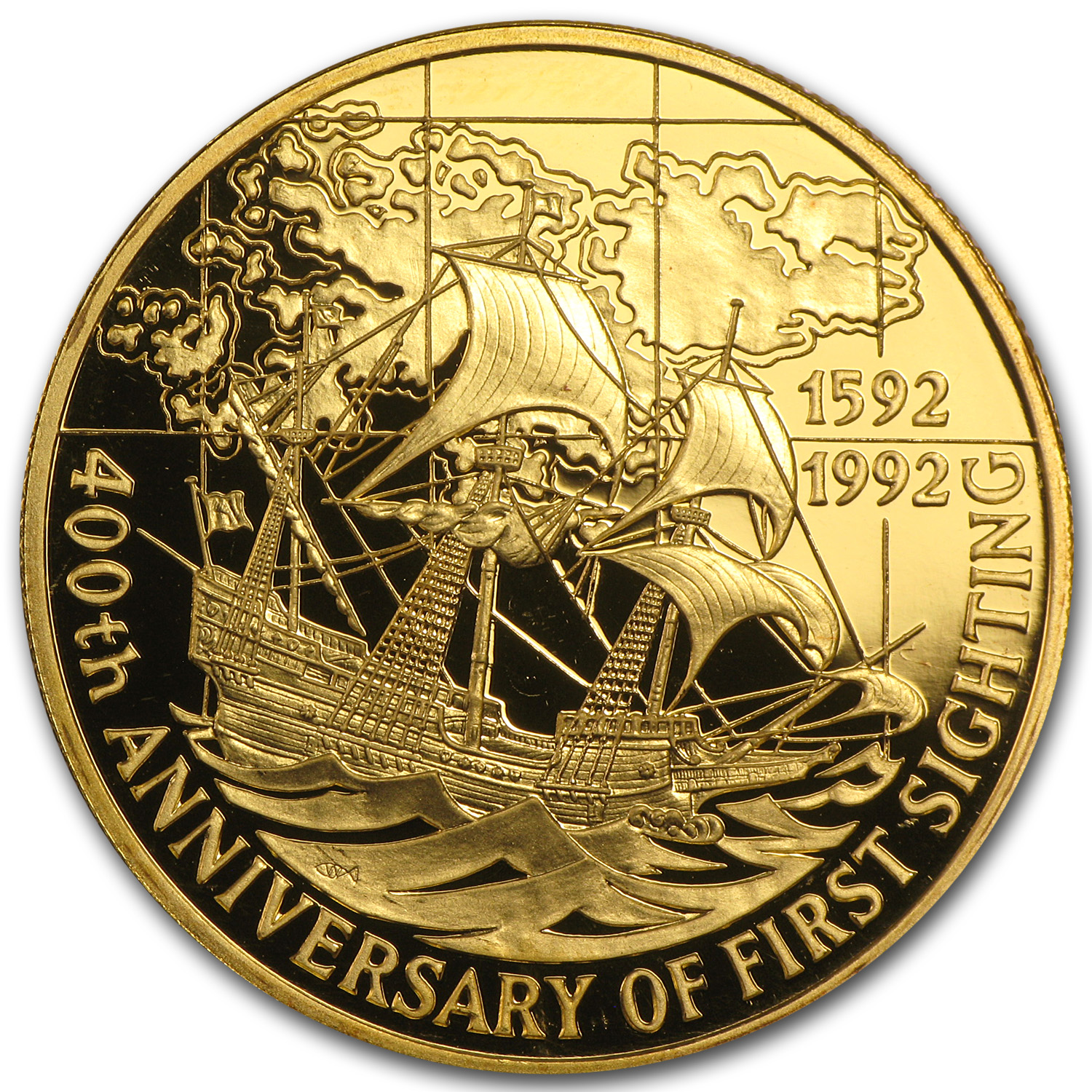 1992 Falkland Islands Gold 100 Pounds Proof