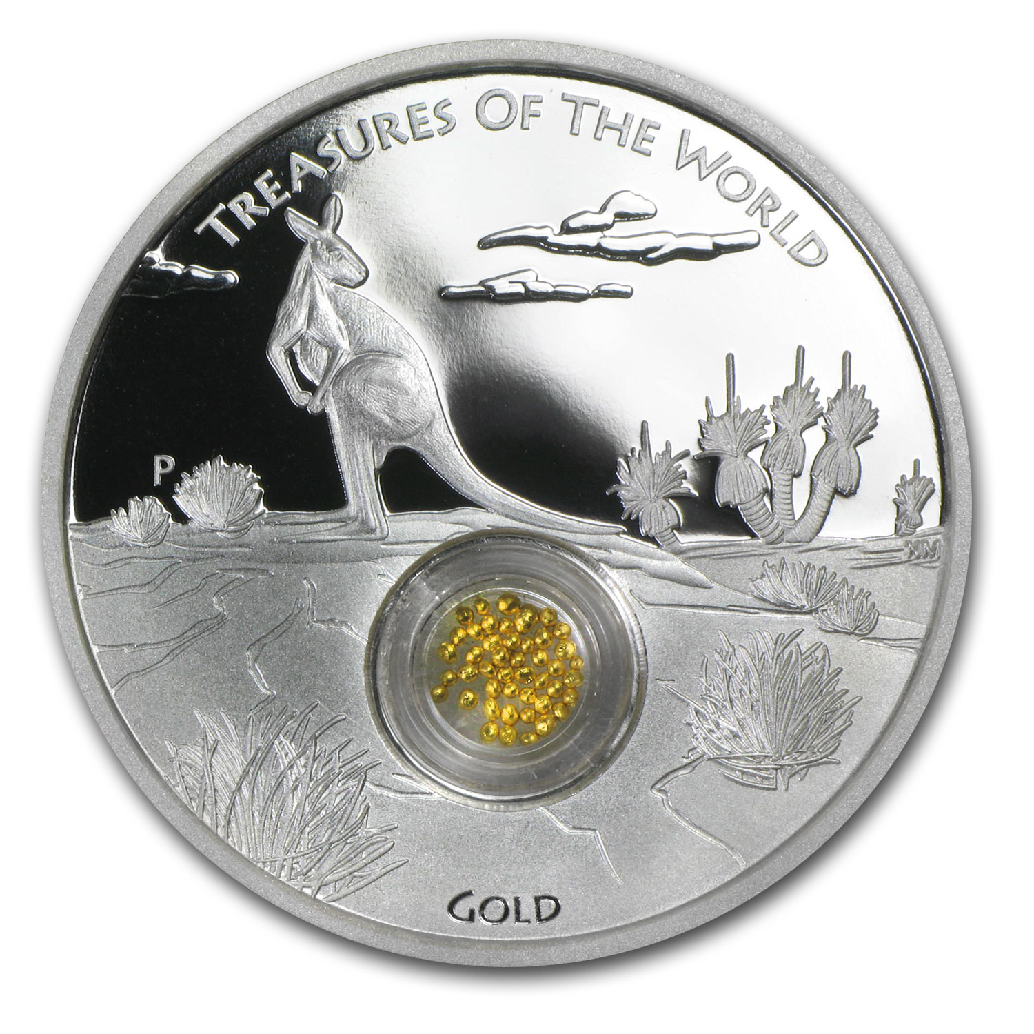 2014 Australia 1 oz Silver Locket Proof (Treasures of the World)