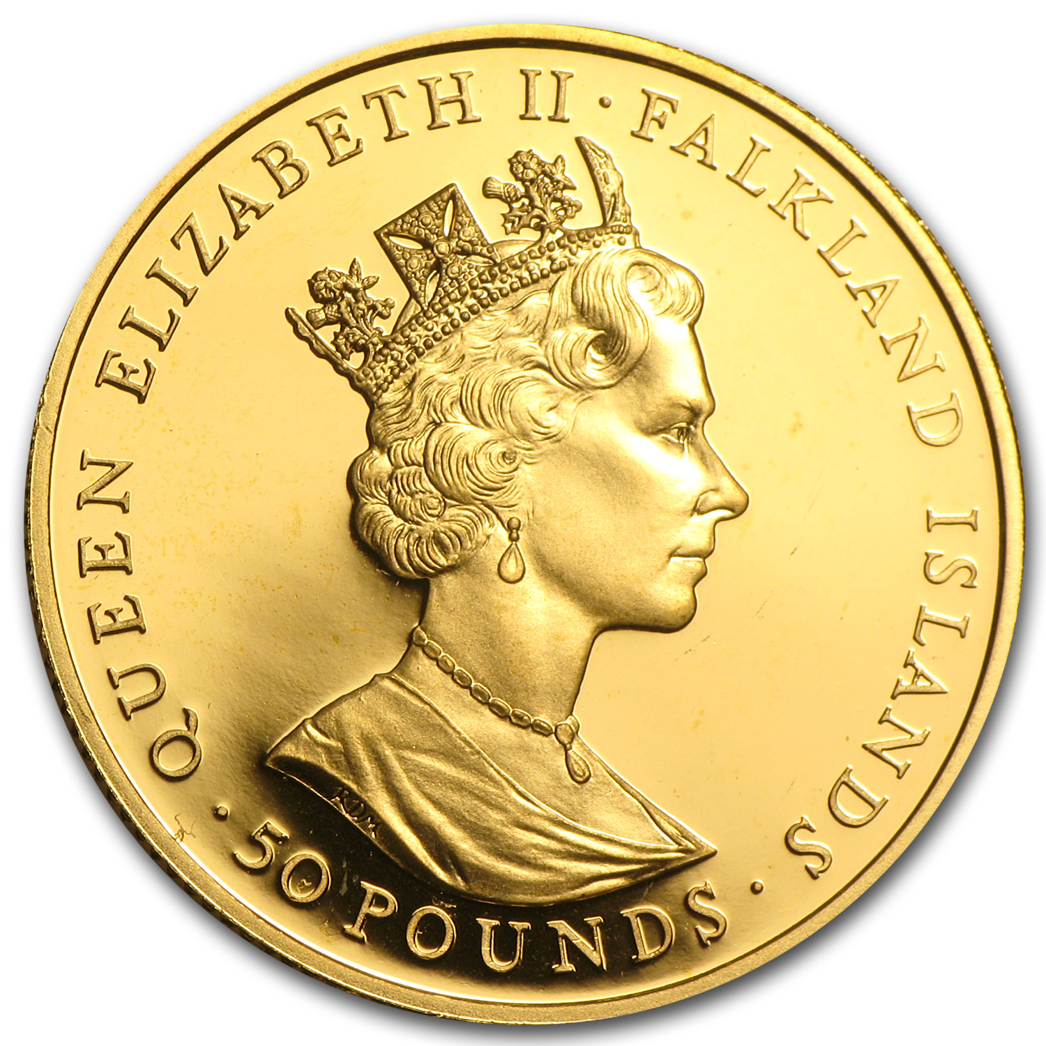 Falkland Islands 1992 Gold 50 Pounds Proof